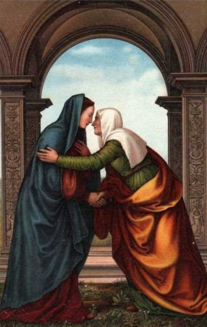 The Visitation of St. Elizabeth to the Virgin Mary by Mariotto Albertinelli (1474-1515)