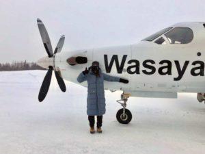 Sarah Herst at Wakepeka airport